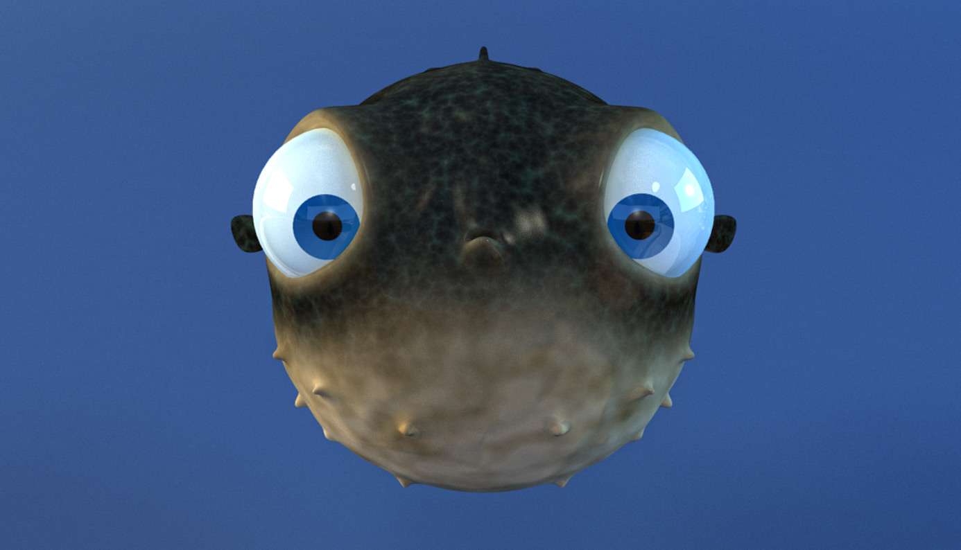 Cute animated puffer fish for Puffer fish images